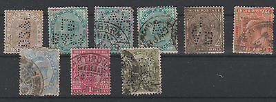 INDE ANGLAISE lot de perforés