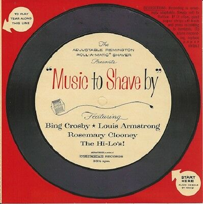 NEW 1959 Remington Shaver 33 flexi-disc MUSIC TO SHAVE BY Bing Rosemary Clooney