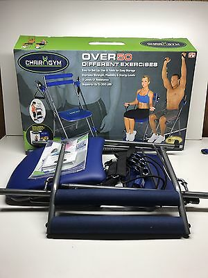 Emson Chair Gym Total Body Work Out Over 50 Exercises In Box As Seen On TV