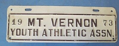 1973 Mt. Vernon Youth Athletic Assn. license plate attachment