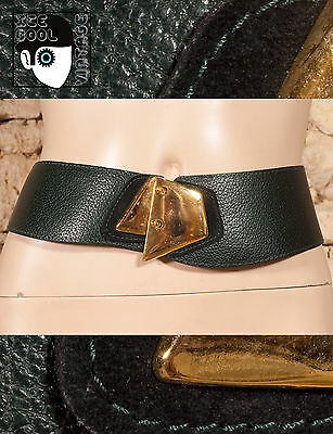 """80s 90s LEATHER FACED BELT WITH SUEDE DETAIL - 29"""" to 33"""" - (Z)"""