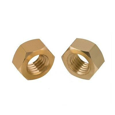 M2 x 0.4mm Pitch FULL HEX NUTS FOR BOLTS & SCREWS DIN934 SOLID BRASS