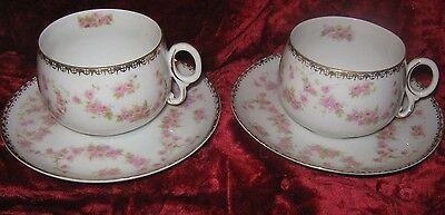 1 - Lot of 2 - Porzellanfabrik Adolf Persch ADH 32 Tea cups & Saucers (2017-045)