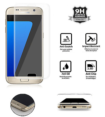 Samsung Galaxy S7edge 3D Curved CLEAR Tempered LCD Glass Screen Protector