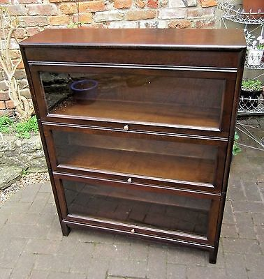 Gunn Three-Tier Oak Sectional Barristers Bookcase~Mid Century