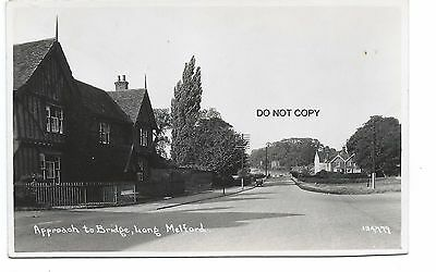 Motor car, Brook House, Mill House, Long Melford, Suffolk postcard