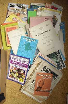 Joblot of used, old, and vintage sheet music and song books etc approx 18Kg