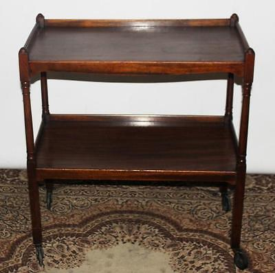 Antique English Mahogany Serving Tea Trolley - FREE Shipping [PL3557]