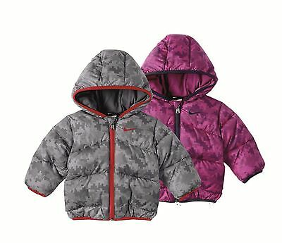 Nike Infant Unisex Hooded Casual Jacket Autumn Winter Pink Grey All Sizes 481510