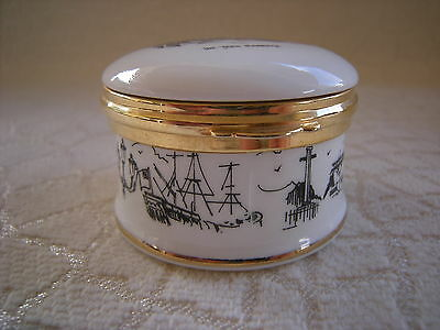 Collectables Fine Bone China Souvenir THE TEES BARRAGE White Trinket  Holder
