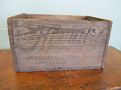 RARE Antique Heurich Brewing Co Washington DC Wooden Beer Crate Box Case