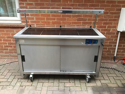MOFFAT Stainless Steel 2 Door Hot Cupboard with 4 Ceramic Hot Plates & Gantry