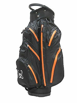 100% Waterproof Golf Cart Bag 2015-6 stock Black/Orange - Clearance