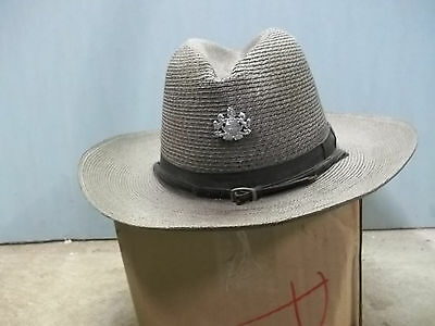 Pennsylvania State Police Trooper Hat with Coat of Arms Pin Obsolete small