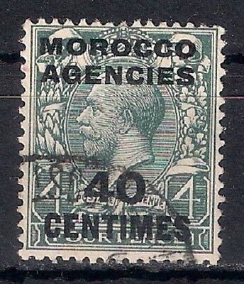 MOROCCO AGENCIES King George V  40 CENTIMES USED - 8/6