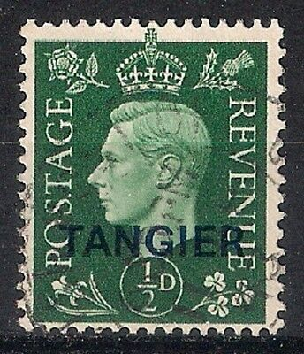 TANGIER  King George V - 1 / 2 p deep green USED - 8/6