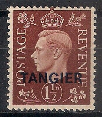 TANGIER  King George V -  1 1 / 2 p red brown * MH - 8/6