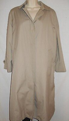 18b7310d London Fog Womens Trench Coat 10R Tan Rain Overcoat VINTAGE USA CLASSIC 7t3