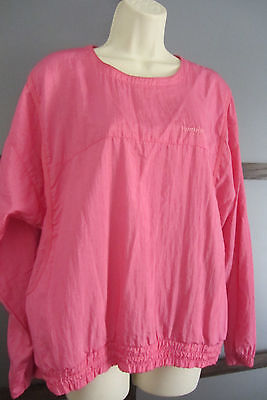 Vintage REEBOK Windbreaker Jacket Cover up Nylon Medium Pink Womens Retro