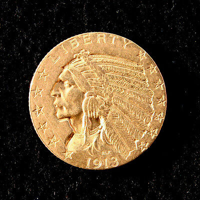 5 Dollar Indian Head 1913 - Goldmünze aus Amerika mit Indianer - Münze aus Gold