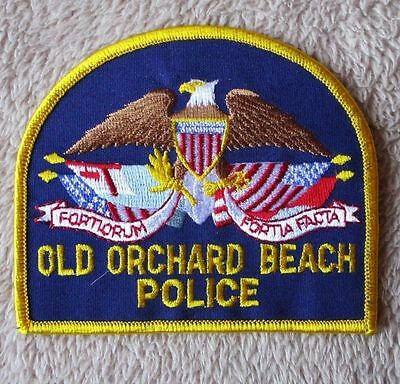 "Old Orchard Beach Police Patch - Maine - 4 1/8"" x 3 1/2"""