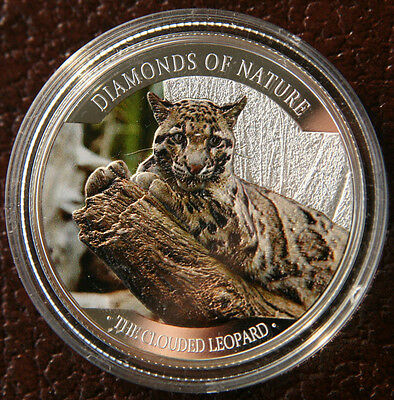 1oz 10 Dollar Diamonds of Nature Leopard 2013 Fiji - Auflage: 1.000 - PP Silber