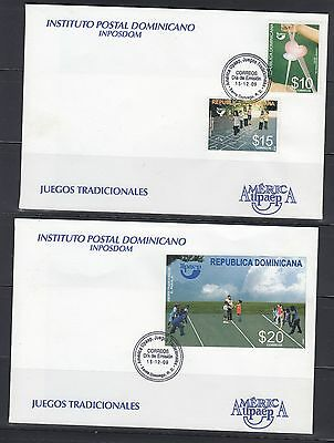 Dominican Republic 2009 America Games Sc 1476-1478  First Day Cover