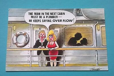 Bamforth Post Card Seaside Saucy Comic Series Black Triangle Taylor 376 Unposted