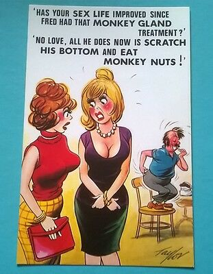 Bamforth Post Card Seaside Saucy Comic Series Black Triangle Taylor 425 Unposted