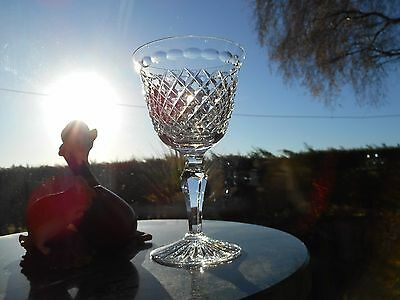 "Stuart Crystal  HARDWICKE  5 ""  SMALL WINE  glass OR glasses ( RARE )"