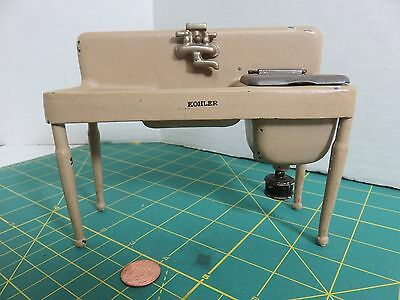 Vintage ARCADE Cast Iron Dollhouse KOHLER Double Washing SINK #608 Miniature Toy