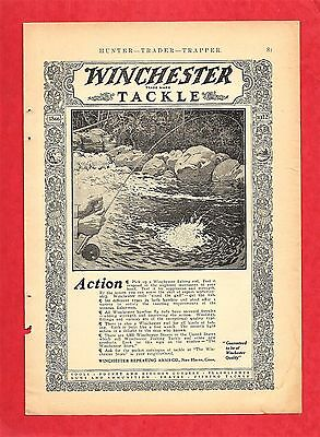 1921 Print Ad ~ WINCHESTER FISHING TACKLE ~ FLY FISHING