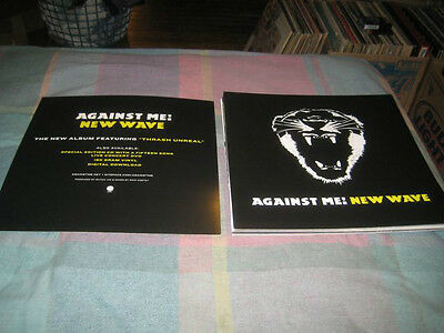 AGAINST ME-(new wave)-1 POSTER-2 SIDED-12X12-NMINT-RARE
