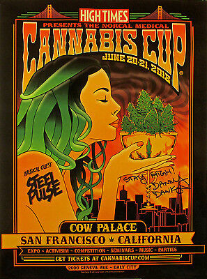 High Times San Francisco Cannabis Cup 2015 Autographed Limited Edition Poster
