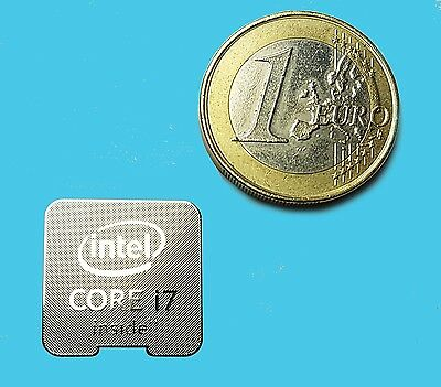 INTEL CORE i7  METALISSED CHROME EFFECT STICKER LOGO AUFKLEBER 18x18mm [655]