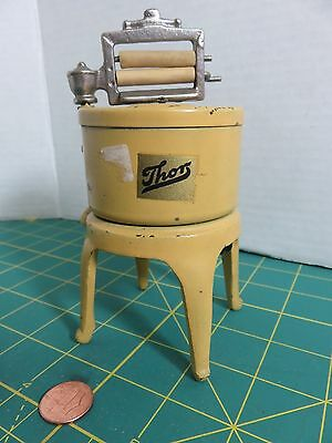 "Vintage ARCADE Cast Iron Wringer Washing Machine Dollhouse Miniature Toy 5.5""T"