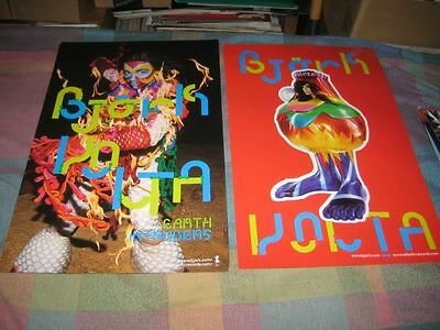 BJORK-(earth intruders)-1 POSTER-2 SIDED-11X17-NMINT-RARE