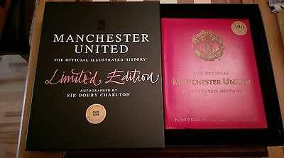 Manchester United Official Illustratedl History Limited Ed SIGNED Bobby Charlton