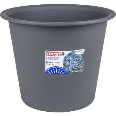 NEW Decor Terrace Round Plant Pot 350mm Pewter