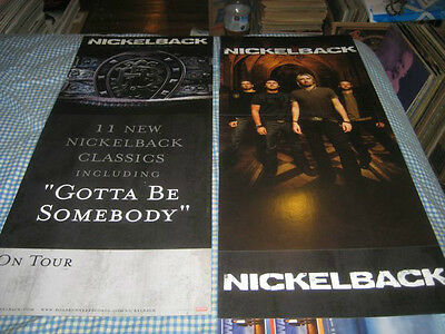 NICKELBACK-(self titled)-1 POSTER FLAT-2 SIDED-12X28-NMINT-RARE