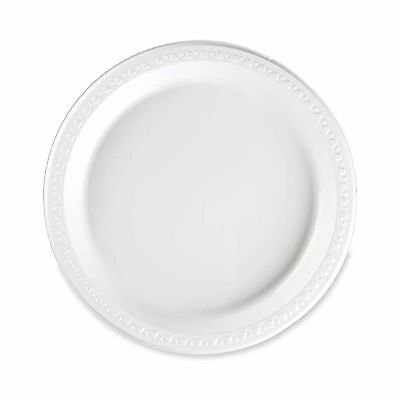 """Tablemate 9644WH Plastic Dinnerware Plates 9""""  Diameter White Pack of 125... New"""