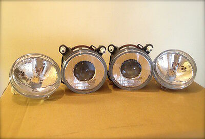 4x Lamps Lancia delta integrale EVO set Driving Lights + Headlight Fisheye
