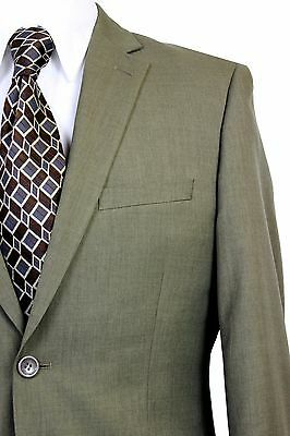 Paolo Giardini Mens Poly Suit Jacket and Pant 2 Button Flat Front Slim Fit KHAKI