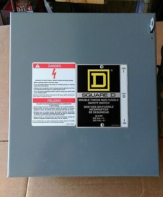 NEW Square D 92251 series e3 Double Throw Safety Switch