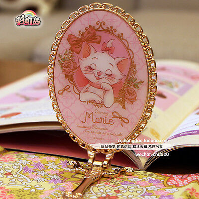 Marie disney cute handheld mirror kawaii accessory imported