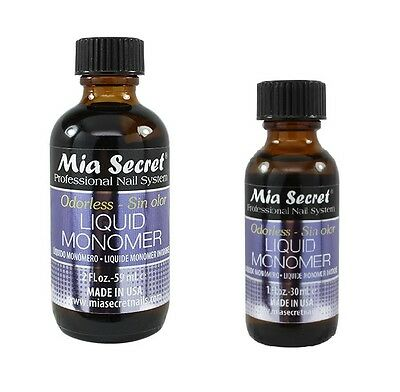 Mia Secret Professional Nail System ODORLESS Liquid Monomer 1oz /30ml -2oz /59ml