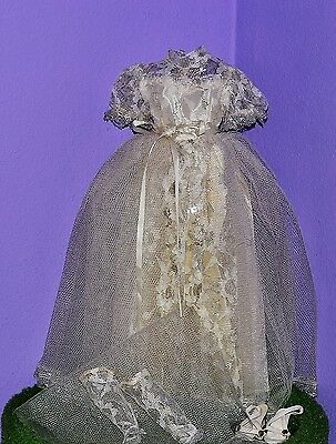 """Silver White Wedding Dress Veil Shoes 19-20"""" Dollikin Teen Doll Deluxe Reading"""