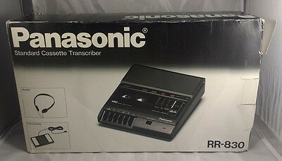 Panasonic RR-830 Standard Cassette Transcriber Recorder Machine Foot Pedal
