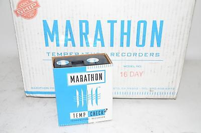 Lot of 24 Marathon Products Tempcheck 2 Transit Strip Chart Temperature Recorder