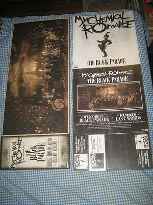 MY CHEMICAL ROMANCE-(the black parade)-1 POSTER FLAT-2 SIDED-12X30-NMINT-RARE